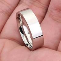 Cincin Couple Polos - Perhiasan Titanium Stainless Steel – TC10
