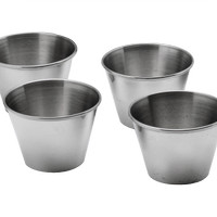 6PCS SAUCE CUP SET (ISI 4 PCS) STAINLESS STEEL SEASONING CUP
