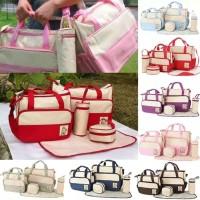 Diaper bag Tas Perlengkapan bayi travelling bags 5 IN 1 multifungsi on