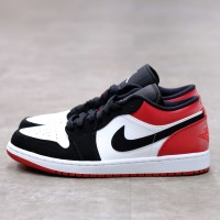 Nike Air Jordan 1 Low Black Toe 100% Authentic