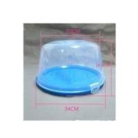 12 Inch Cake Storage Box Colorful Plastic Container Portable &