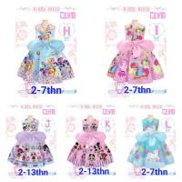 Dress Anak LOL, Little Pony, Princess, Hello Kitty, Frozen, Tsum Tsum