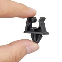 Terbaru Black Bonnet Hood Prop Support Rod Clamp Rivet Clip Kit For