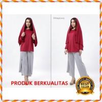 ZANNA Set Muslimah - Gamis Embos - Gamis jersey - Gamis Jeans Murah
