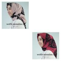 Kerudung Segi Empat (bukan instan) Wolfis Monalisa - Jilbab Segiempa