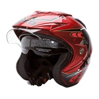Helm WTO Impressive Spectra Double Visor Half Face Candy Red – SH715