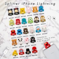 2 In 1 Audio & IPhone Lightning Adapter Splitter - CARTOON