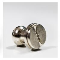 Mini Knob silver + Skrew untuk aksesoris furnitur uk. dim 10 mm P=12mm