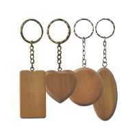 aksesoris Gantungan Kunci Natural Wood POLOS ukuran kayu 3-5 cm
