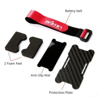 Carbon Fiber Battery Protector for Multirotor with Strap