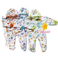Baju Bayi Jumpsuit Topi Tutup Kaki Libby Baby Newborn NEWBORN