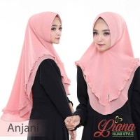 Hijab Jilbab Khimar Syari Mini Penguin Rempel 2 Layer ANJANI