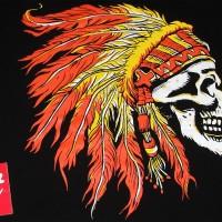 kaos skull - kaos tengkorak - kaos indian - kaos apache - kaos native