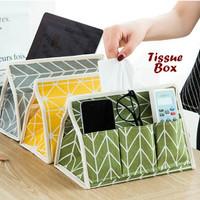 Tempat tissue Kotak Tissue tissue box dengan 6 sekat selipan