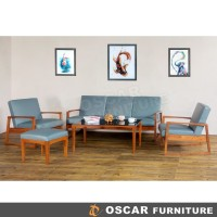 Oscar Furniture - Sofa Set Monza - Sofa Fabric Minimalis (tanpa meja)