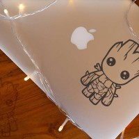Decal Sticker Macbook Apple Stiker Groot Avengers Chibi Laptop