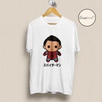 Kaos Movie Avengers Spiderman Homecoming Chibi TSHIRT [Eksklusif]