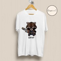 Kaos Movie Avengers Rocket Racoon Chibi TSHIRT [Eksklusif]