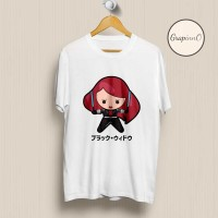Kaos Movie Avengers Black Widow Chibi TSHIRT [Eksklusif]