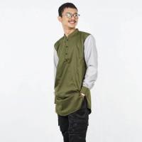 KURTA GAMIS PAKISTAN KHALIF - Baju Busana Muslim Pria Cowok Hijau