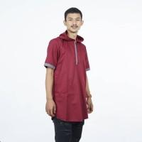 KURTA GAMIS PAKISTAN HOODIE ABIZAR - Baju Merah Muslim Pria Cowok