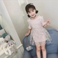 Dress casual anak/dress tile bunga/dress carol/gaun casual