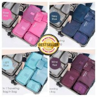 Travelmate [HARGA PROMO] Travel 6 in 1 bag Set Storage Organizer Koper