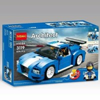 KTY 1289 BRICK DECOOL 3111 ARCHITEC 3IN1 TURBO TRACK RACER