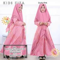 Kids Fiza/Gamis Katun Salur Mix Woolpeach HQ/Gamis Anak/Baju Muslim