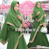 Wawa Syari Kid/Gamis Wafel Import/Gamis Anak/Baju Muslim Anak