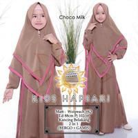 Kids Hapsari/Gamis Woolpeach HQ/Gamis Anak/Baju Muslim Anak Perempuan