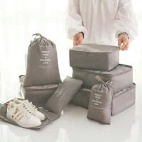 Travel set 8 in 1 bag organizer / tas isi koper