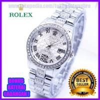 Mewah ! Jam Tangan Wanita Rolex Madu Rantai Keren Murah & Berkualitas