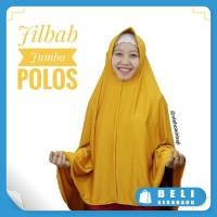 Jilbab Hijab Khimar Bergo Jumbo Syar&#39-i Polos Dengan Pet Bahan