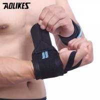 Best AOLIKES Wrist Wrap Wraps Strap Weightlifting Support Gym Fitness