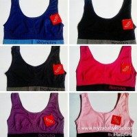 Best Sport Bra Senam Gym Aerobic Miniset Rajut All Size wanita dan