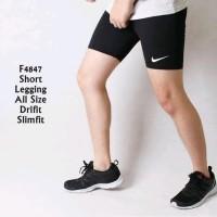 Best Celana Legging Pendek Pria wanita Gym fitnes Sport Lari renang
