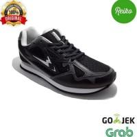 """Best Sepatu Olahraga Eagle """"Aero"""" Running / Lari 100% ORIGINAL - Black"""