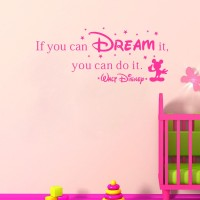 If You Can Dream It You Can Do It Cartoon Wall Stickers for Kids
