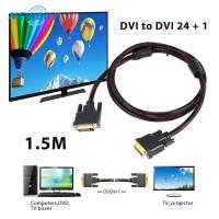 NEW Buy ? Kabel DVI 24 1Pin Bahan PVC untuk PC HDTV Proyektor