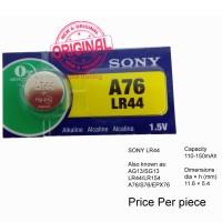 Button Cell - Sony - Alkaline LR44 (A76)