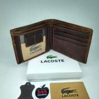 Dompet / Dompet kulit asli / Lacoste 804 / Dompet lipat pria wanita