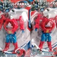 #Aksesoris Jam tangan anak laki laki Ultraman robot