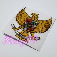 Sticker Timbul Garuda Kuning Stiker Body Motor Resin Tebal Exclusive