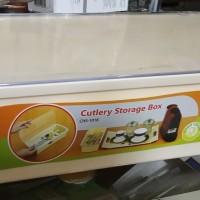 Rovega Kotak Sendok Garpu Premium Cutlery Storage Box CHS-1018 Krem
