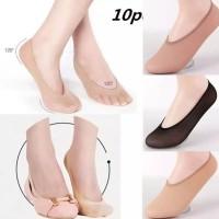 S/69 Kaos Kaki Invisible Hidden Socks Sepatu Loafer Slip On Flat Shoes
