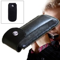 Soft Case Harmonica 10 Holes Artificial Leather Wadah Harmonika Kulit