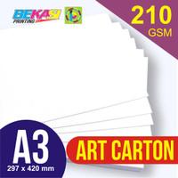 Kertas Art Carton 210 GSM ukuran A3 29,7 x 42 cm