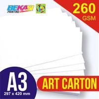 Kertas Art Carton 260 GSM ukuran A3 29,7 x 42 cm