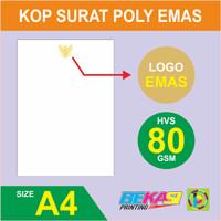 Cetak Kop Surat HVS 80 Gram + Logo Garuda Emas Polos